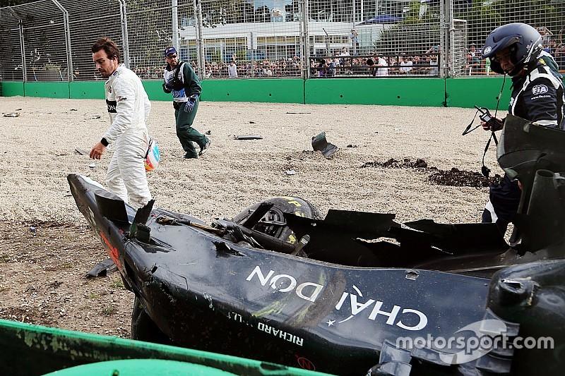 """Button: """"Halo niet hinderlijk in crash van Alonso"""""""