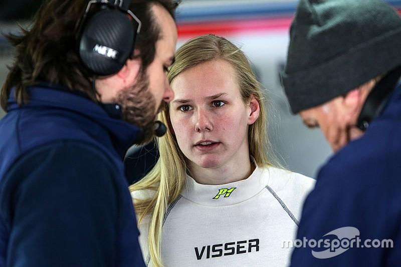 Beitske Visser met Teo Martin in Formula V8 3.5