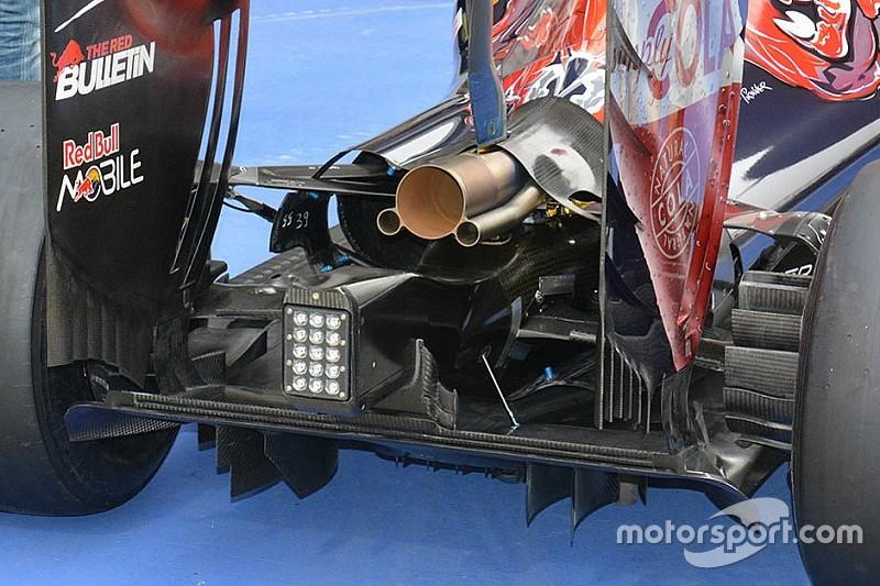 Toro Rosso: la carrozzeria posteriore è asimmetrica