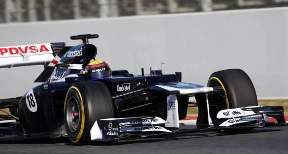 Barselona'da üçüncü gün Maldonado'nun liderliğinde geçildi