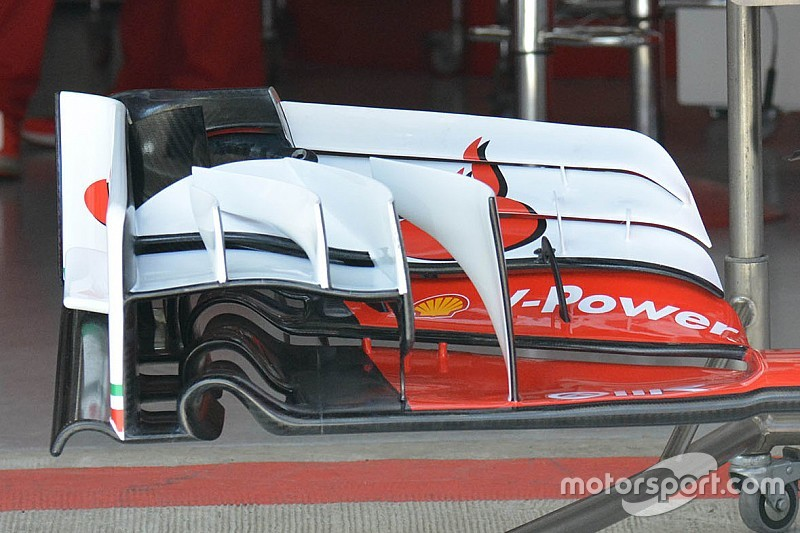 Ferrari: ha un flap in più la nuova ala anteriore della SF16-H