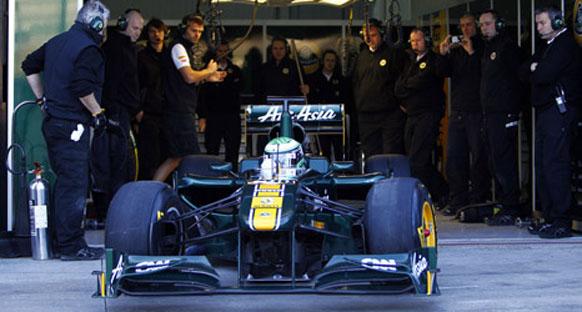 Lotus T128, Valensiya'nın 2. gününde piste çıktı