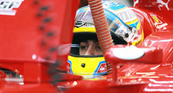 Avrupa Grand Prix Cuma 2. antrenman turları - Alonso günü lider tamamladı