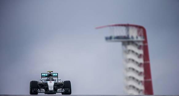 2015 ABD GP'de İlk Antrenmanın En Hızlısı Rosberg