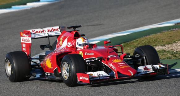 Jerez testlerinin ilk gününde Vettel lider
