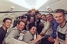 Massa y Rosberg 'intercambian likes' en vuelo lleno de pilotos