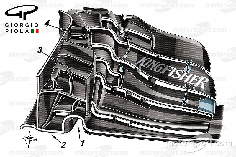Formel-1-Technik: Der Frontflügel, der Force India wieder nach vorne bringen soll