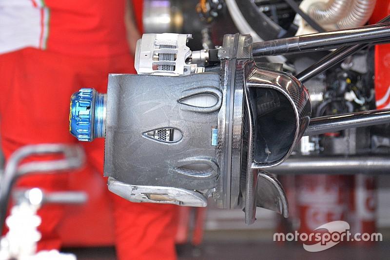 Ferrari: i cestelli dei freni anteriori con tre gocce