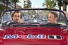 Alonso y Button hacen un viaje muy particular