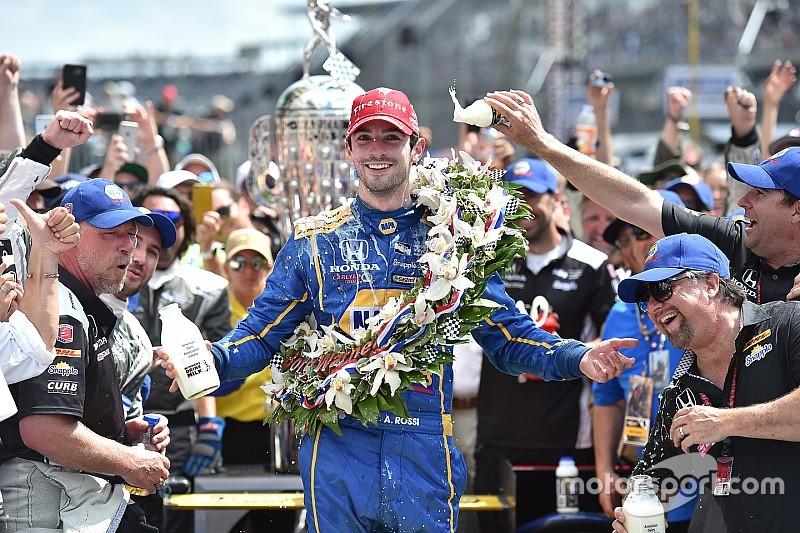 Indy 500 - Rookie Alexander Rossi pakt sensationele zege