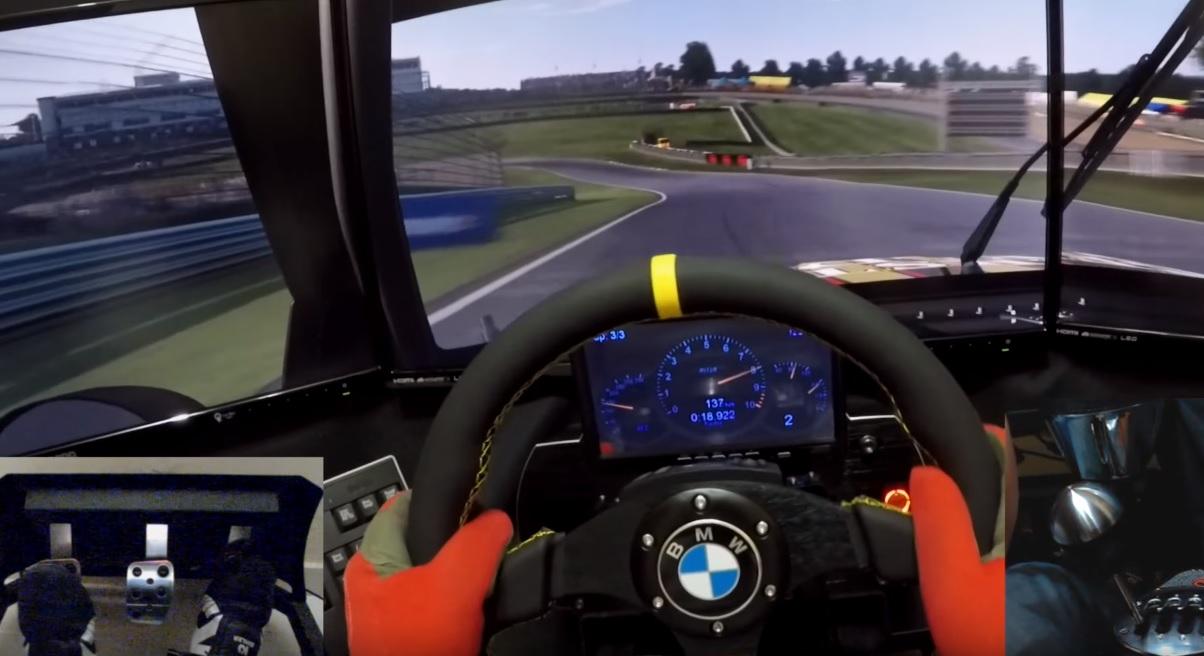 Ez egy ÁLLAT: BMW 320 Turbo egy menő szimulátorral