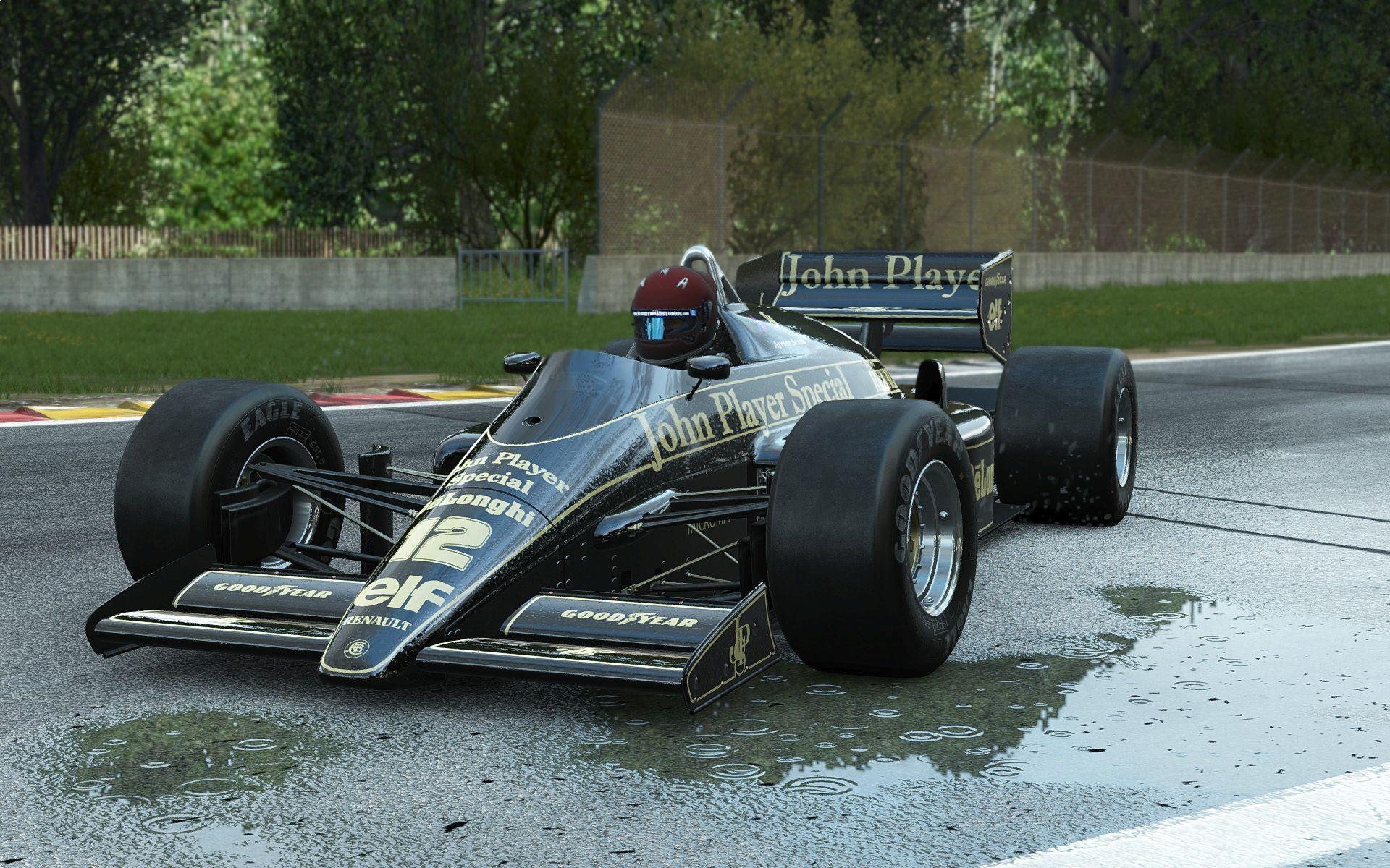 Lenyűgözően élethű az időjárási modell a Project CARS-ban: Lotus 98T az esős Silverstone-ban
