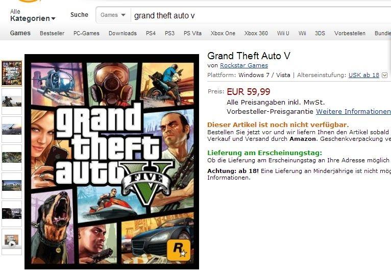 Grand Theft Auto V PC - az Amazonnál már előrendelhető