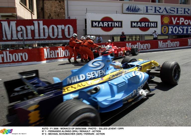 Schumacher 10 éves leparkolása Monacóban Alonso előtt: csúnya botrány lett belőle