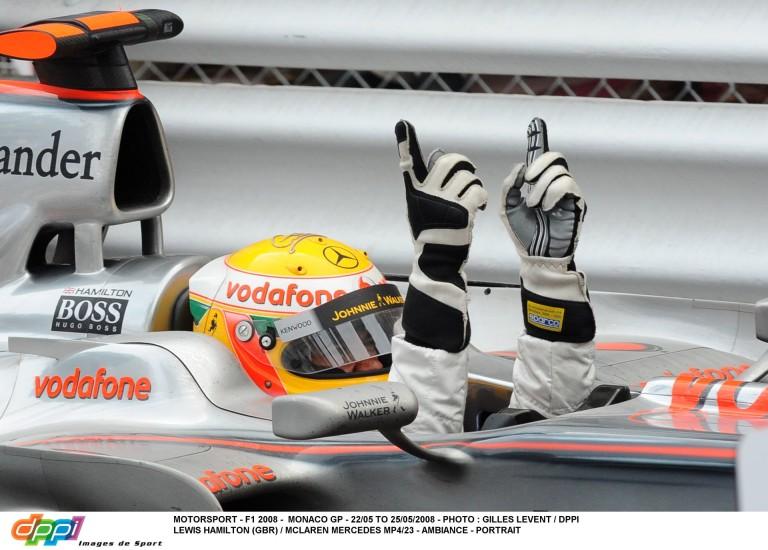 8 éve ezen a napon nyerte meg a Monacói Nagydíjat Hamilton a McLarennel