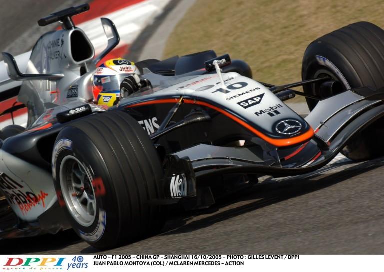 A Forma-1 történetének egyik legszebb hangja: Montoya, McLaren, Kína – 2005