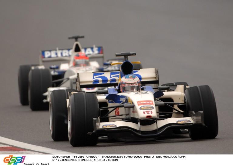 Button brutális utolsó köre a Hondával Kínában 2006-ban