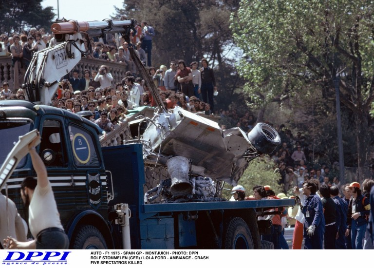 Szörnyű tragédia a Forma-1-ben: 5 néző vesztette életét – 1975