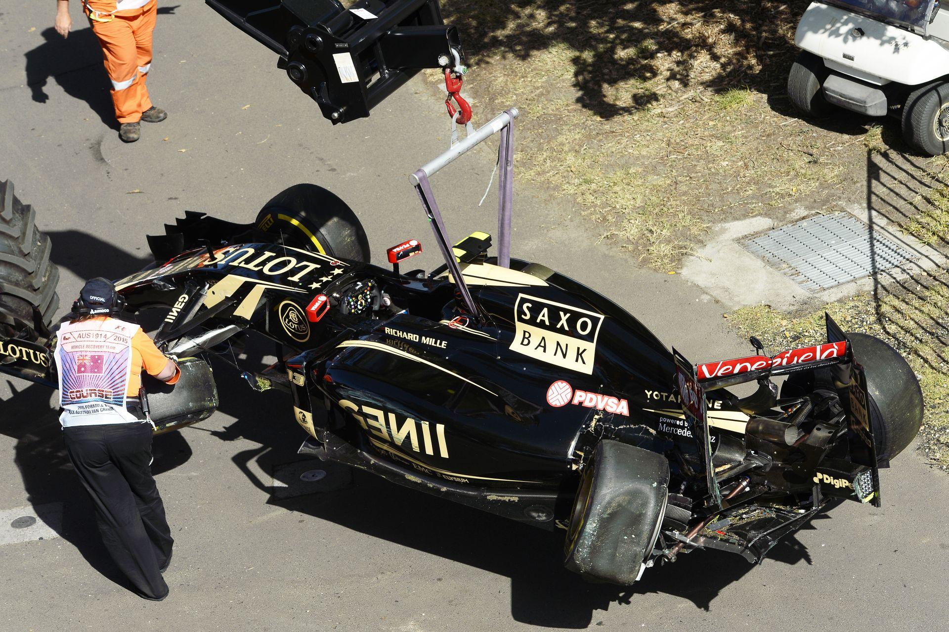Így csapódott be Maldonado a tavalyi évadnyitó Ausztrál Nagydíjon