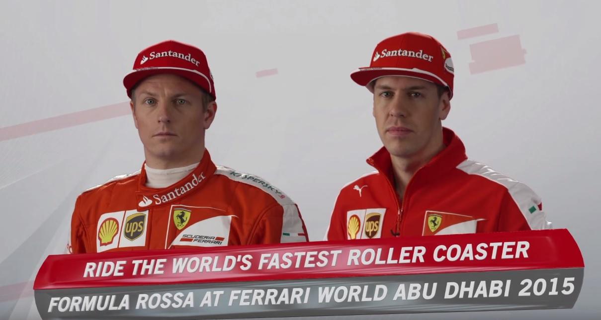 Végre itt a videó: Raikkönen és Vettel a világ leggyorsabb hullámvasútján! Azok a fejek…