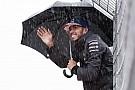 Hamilton kiment volna a pályára a hatalmas esőben
