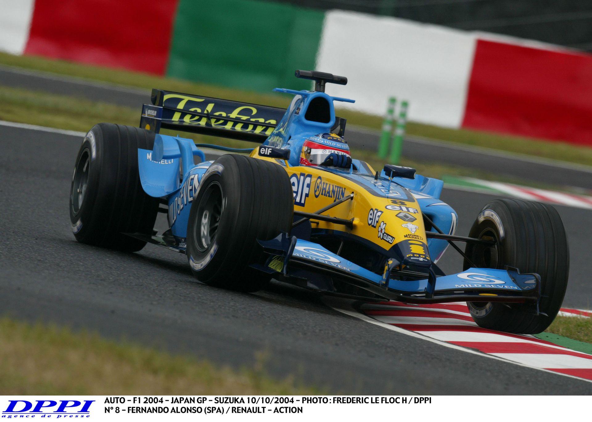 Álomszerűen sikít Alonso alatt a V10-es Renault: Suzuka, 2004