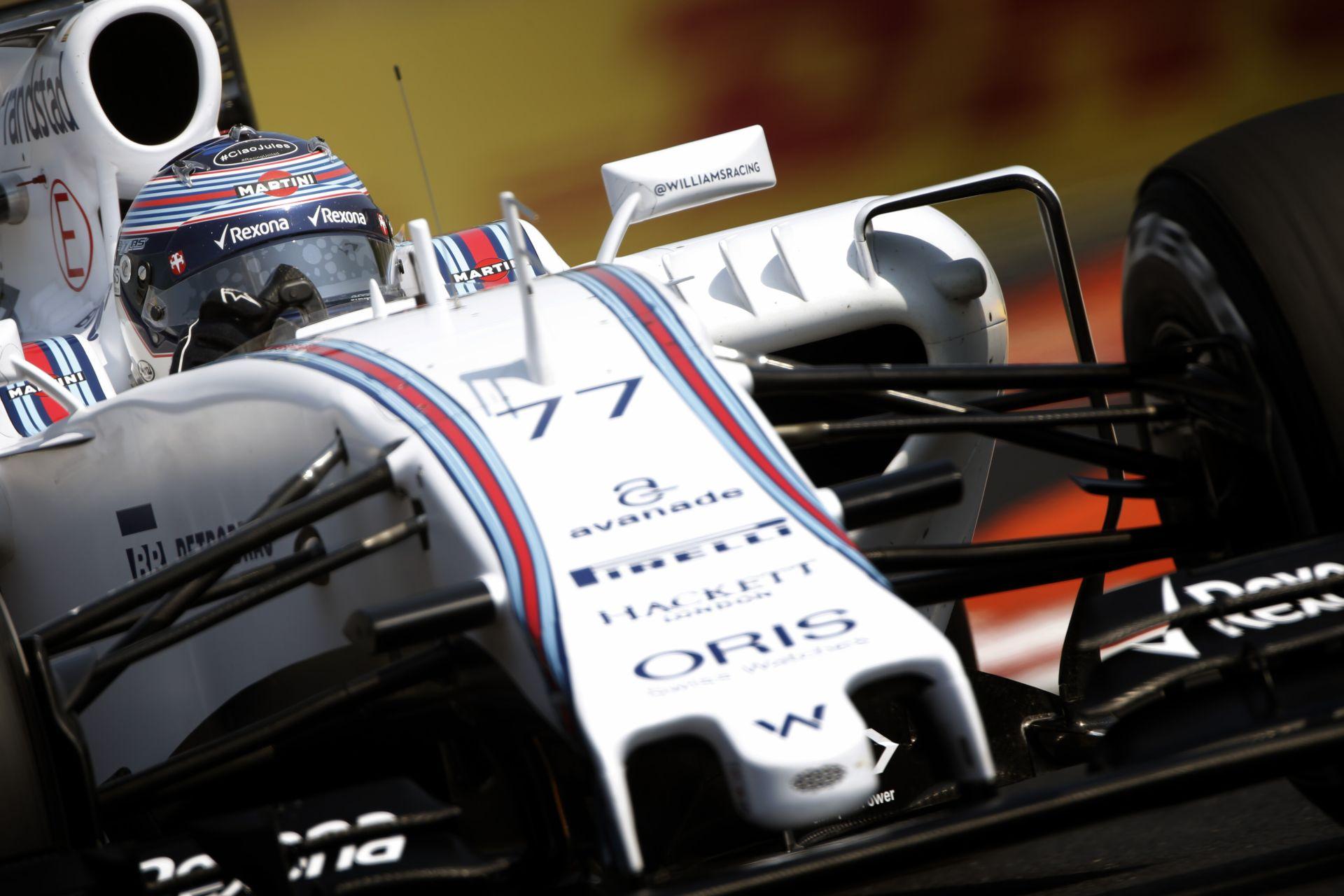 Jó jelek a Williamsnél: fejlődést eredményezett az új első szárny