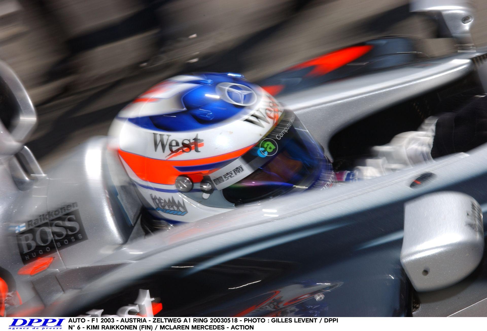 Raikkönen kihajt a bokszból a McLarennel és odalép a gépnek: A1-Ring