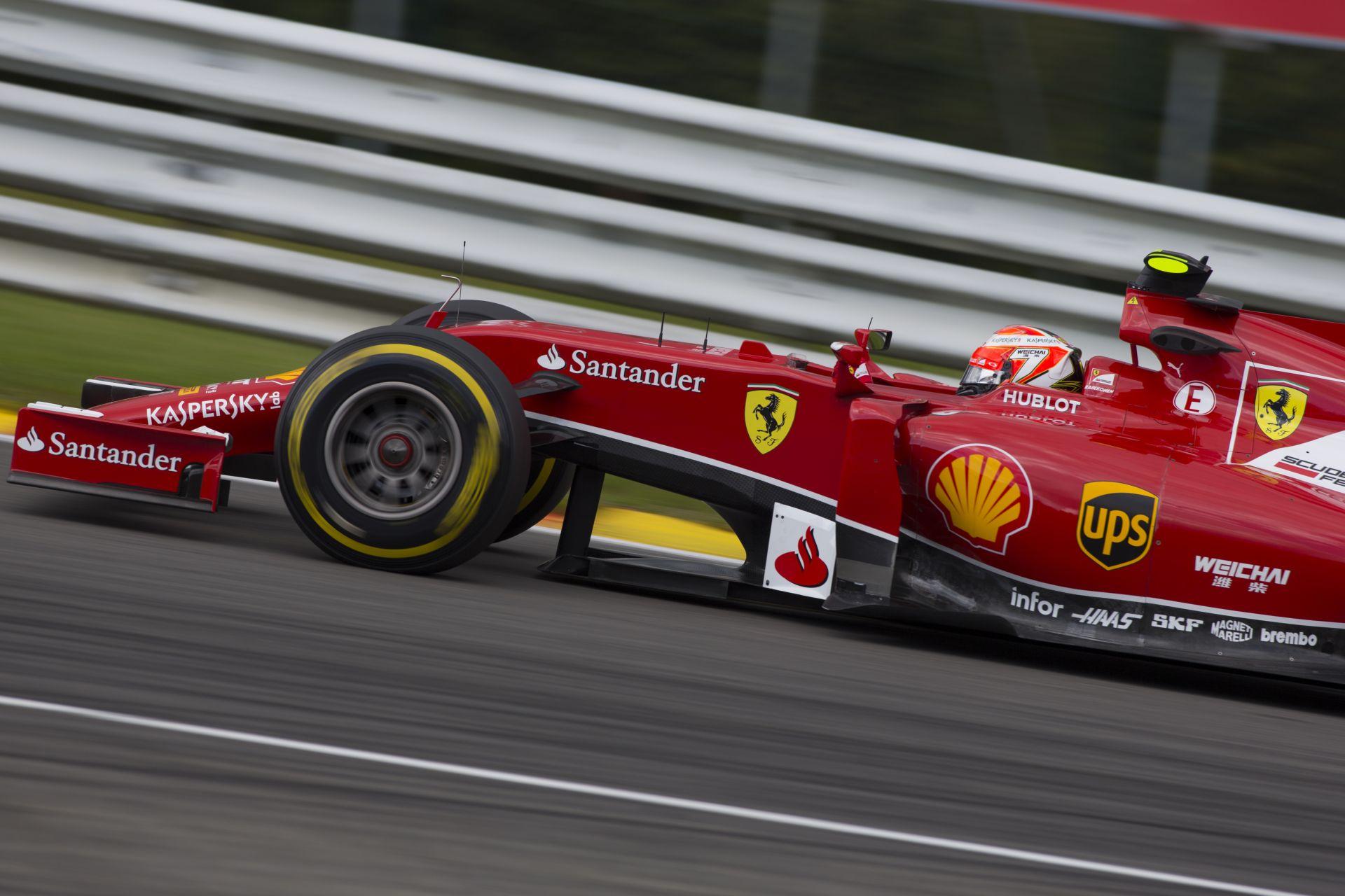 Raikkönen Monzában már felállna a dobogóra a Ferrarival