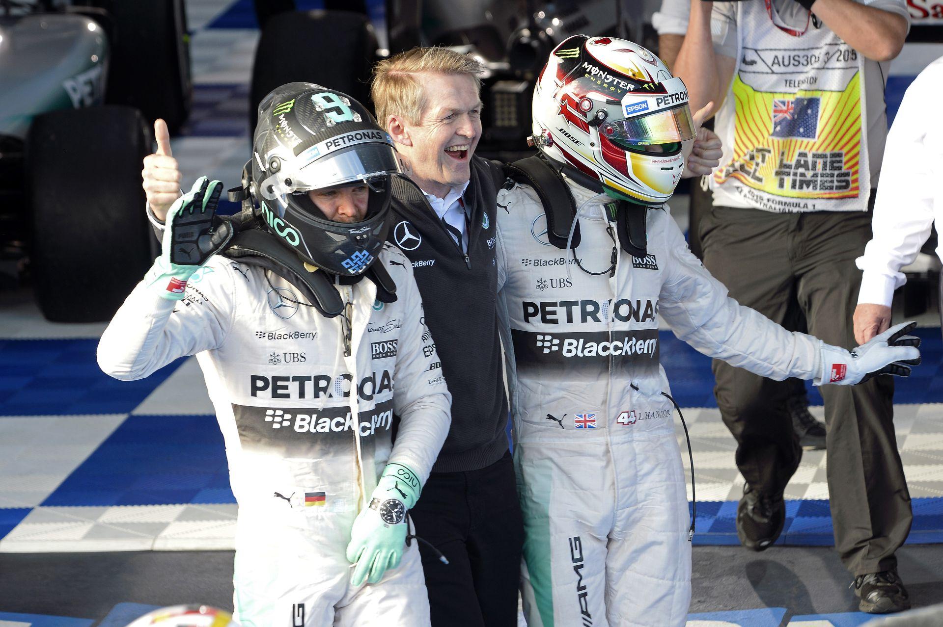 Hamilton partizik, Rosberg babázik