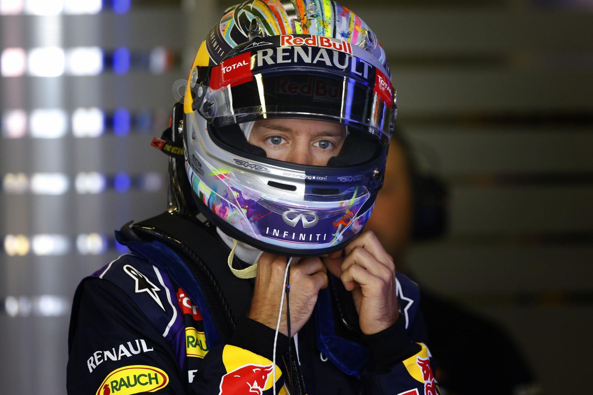 Vettel ma varázsolt Barcelonában