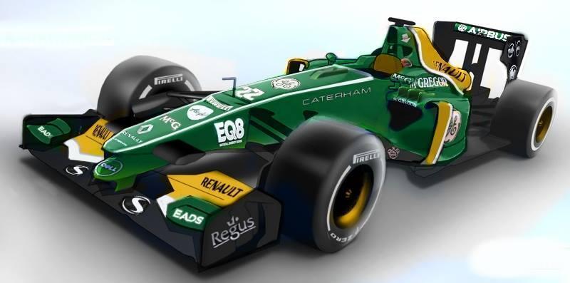 Egy újabb grafika a Caterham 2014-es F1-es autójáról