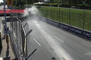 Indy Lights BRÉKING Ilyen csúnyán tud kinézni egy ráfutásos baleset: eszméletlen csattanás az Indy Lightsban