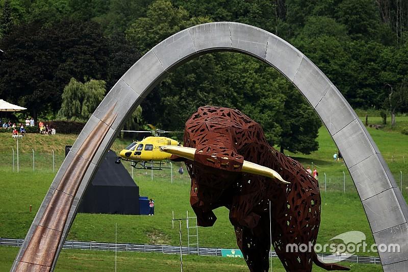 La parrilla de salida para el Gran Premio de Austria