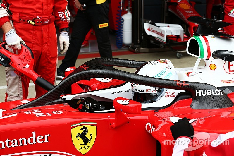 Silverstone: Ferrari-Pilot Sebastian Vettel testet Halo 2