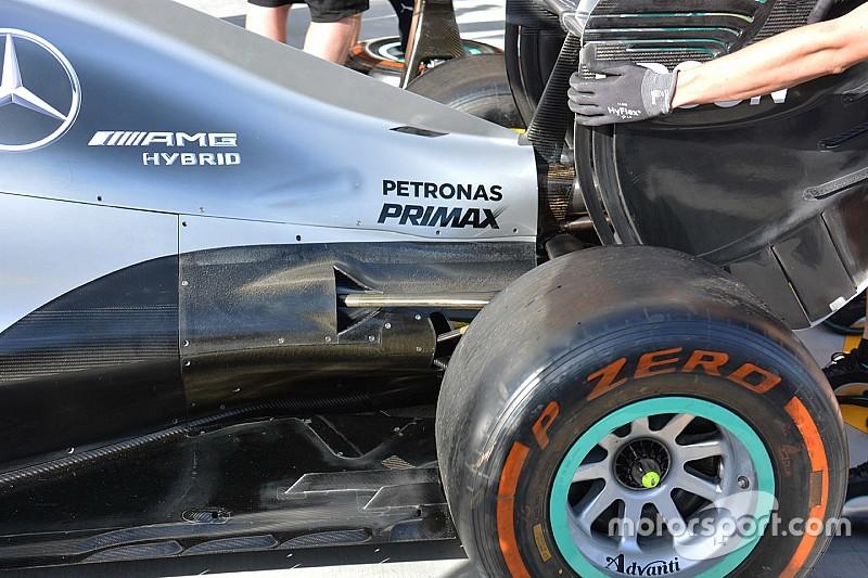 Технічний брифінг: посилене охолодження Mercedes W07