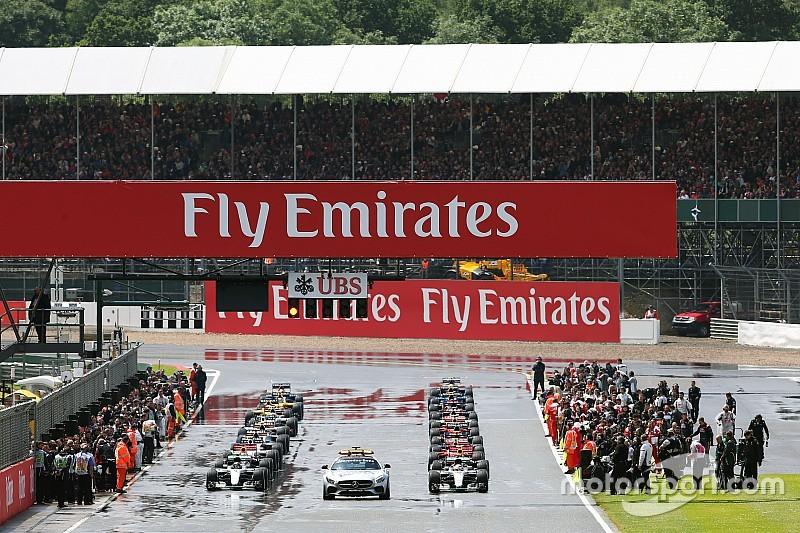 La F1 tendrá salidas en parado con la pista mojada