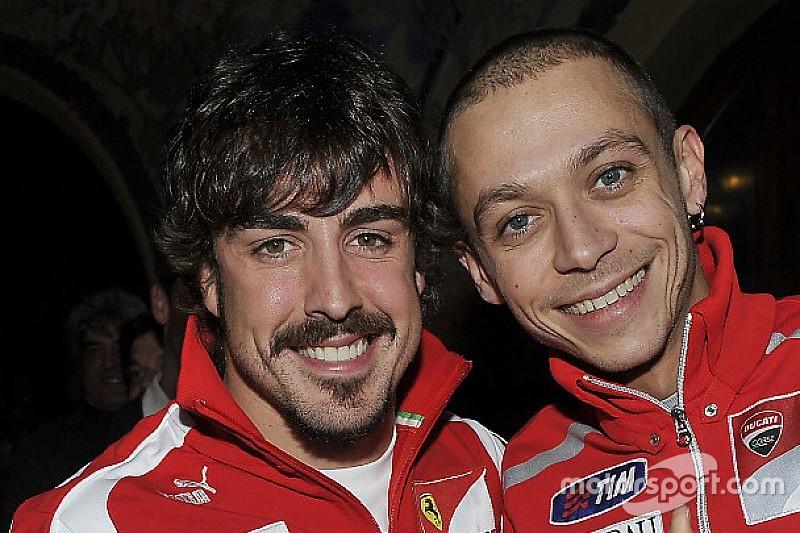 """Alonso: """"Rossi es una inspiración para todos nosotros"""""""