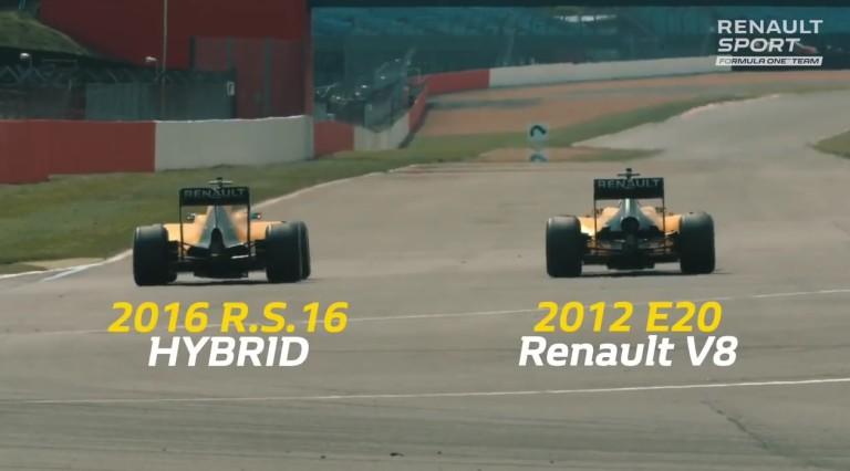 WOW: F1-es gyorsulási verseny az idei és a 2012-es Renault között! V6 Vs. V8