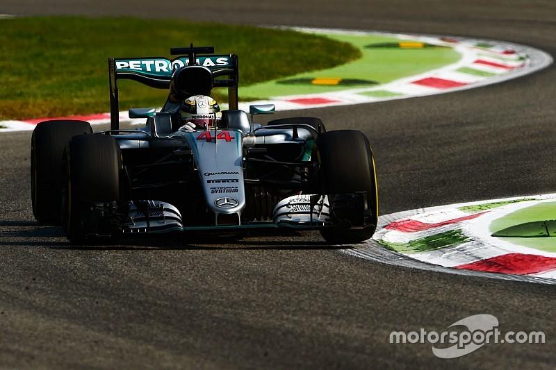Hamilton lideró la FP2 y Ferrari se acercó