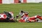 Iannone had geen controle over pijn in onderarm