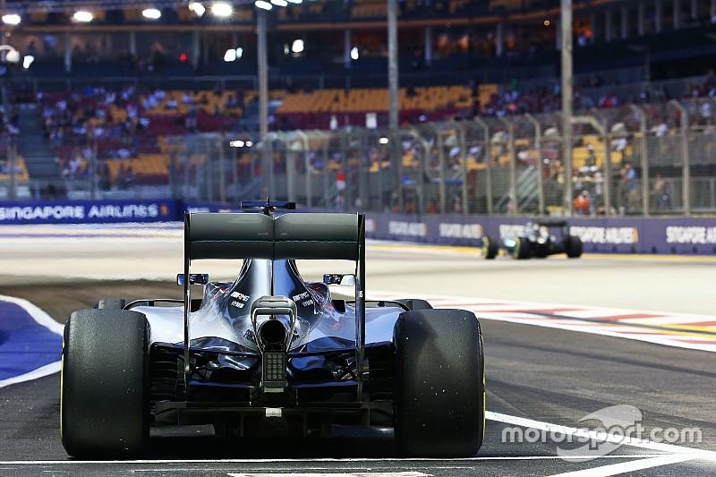 Pirelli verlaagt druk van achterbanden voor Singapore