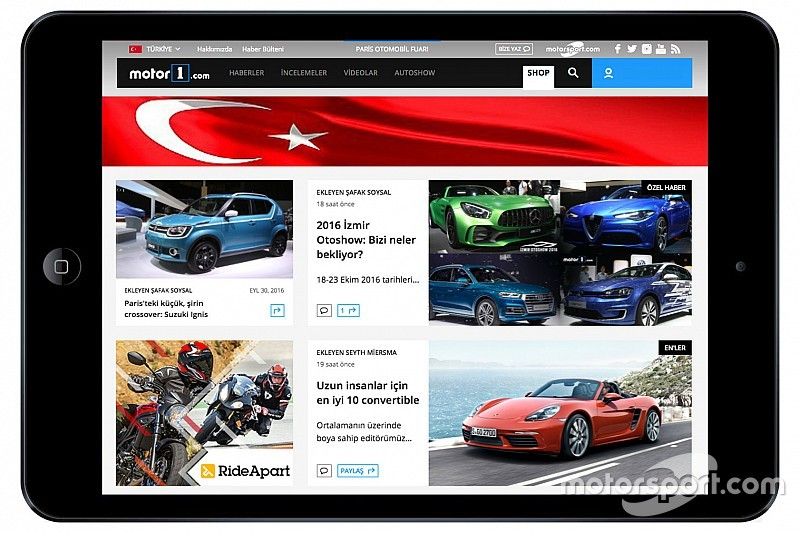 Motor1.com breidt uit naar Turkije