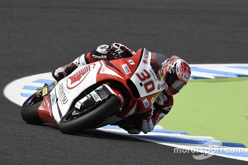 Moto2日本GP日曜ウォームアップ:中上5番手で決勝へ。トップタイムはルティ