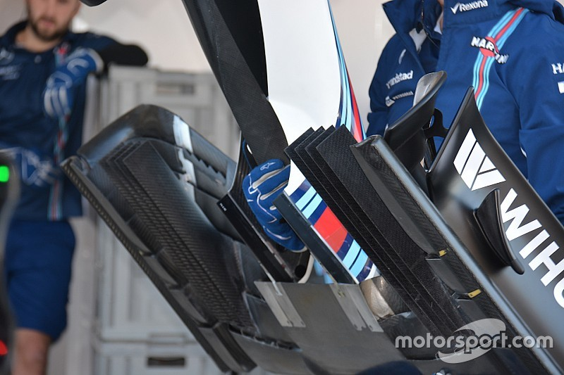 Технический брифинг: переднее крыло Williams FW38