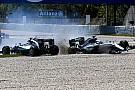In Bildern: Der Mercedes-Crash Hamilton vs. Rosberg in Barcelona