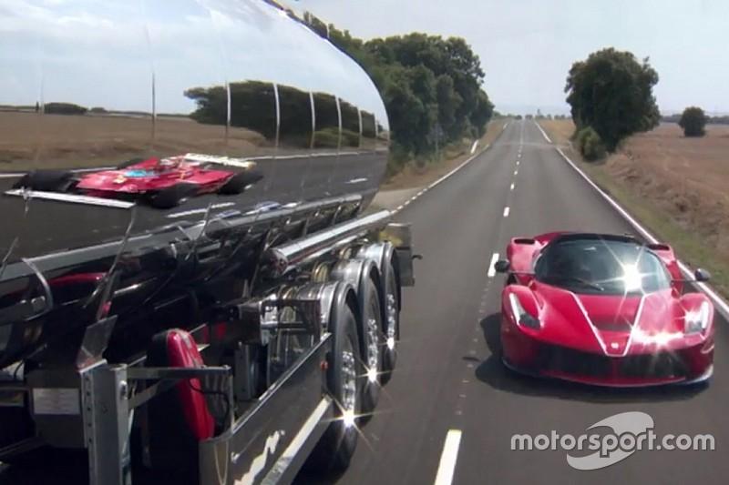 Vidéo - Vettel remonte l'histoire de Ferrari au volant de la LaFerrari Aperta