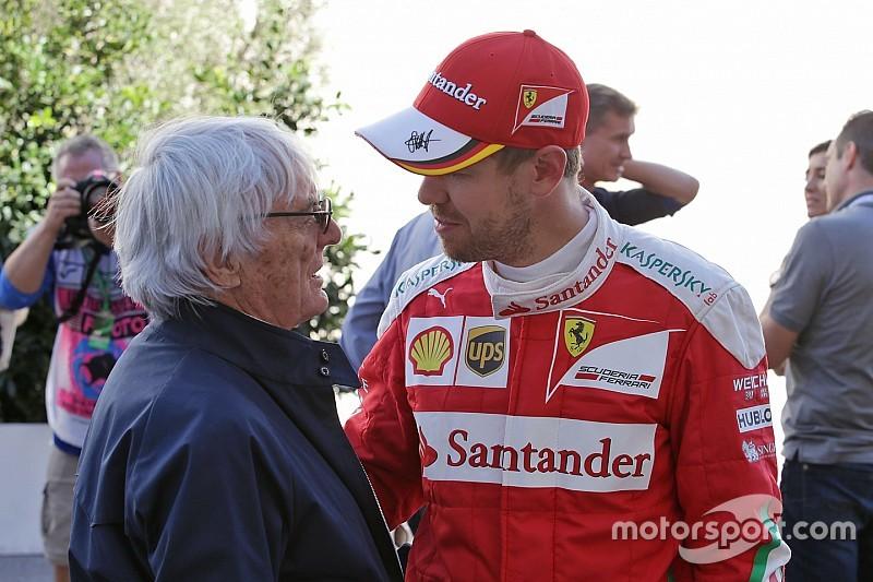 """Ecclestone: """"No es culpa de Vettel no ganar, es el coche y su equipo"""""""