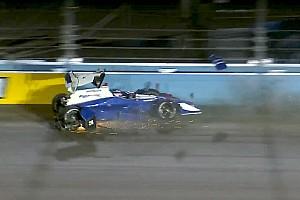 IndyCar Reporte de pruebas Hunter-Reay lidera accidentada práctica en Phoenix