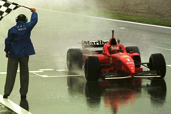 Vor 21 Jahren: Michael Schumachers 1. Sieg für Ferrari – im Regen